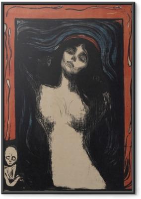 Ingelijste Poster Edvard Munch - Madonna
