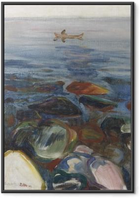 Poster i Ram Edvard Munch - Båt på havet