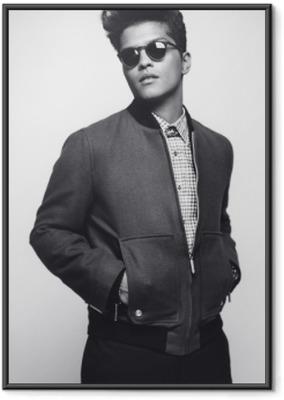 Gerahmtes Poster Bruno Mars
