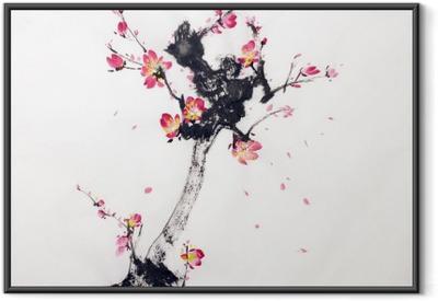 Plakát v rámu Obor sakura