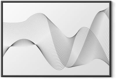 Poster en cadre Vagues et des lignes