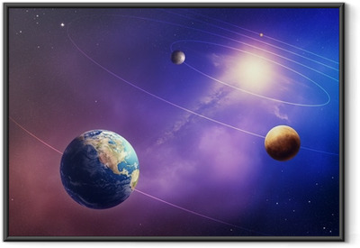 Inner solar system planets Framed Poster