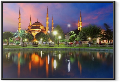 Blue mosque in Istanbul - Turkey Framed Poster