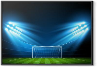 Poster i Ram Fotbollsarena. Vektor