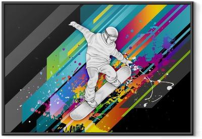 Ingelijste Poster Snowboarder