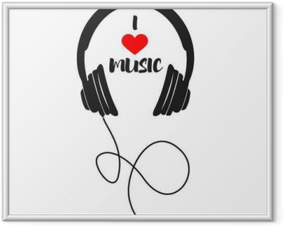 Poster in Cornice Io amo la musica