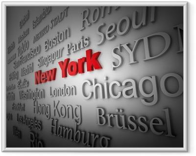 Weltstadt2 New York Framed Poster