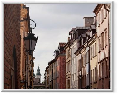 Innrammet plakat Gamlebyen i Warszawa