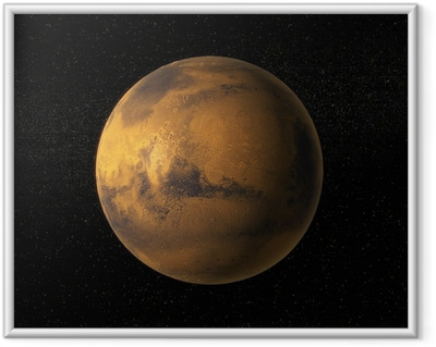 Gerahmtes Poster Ein Blick auf Mars