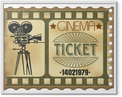 Gerahmtes Poster Ticket im Kino