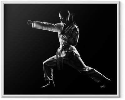 Poster en cadre Karate girl