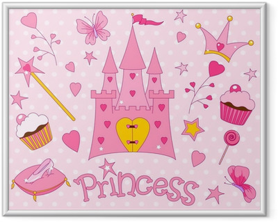 Sweet Princess Icons Framed Poster