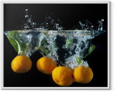Orange splash Framed Poster