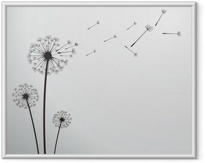 Plakat w ramie Dandelion wektor