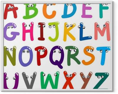 Plakat w ramie Alfabet litery śmieszne