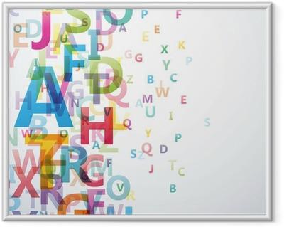 Plakat w ramie Abstract Alphabet Kolor na białym tle # Vector