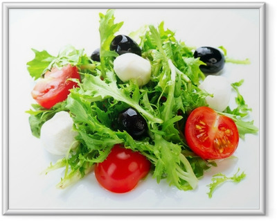 Salad with Mozzarella Cheese Framed Poster