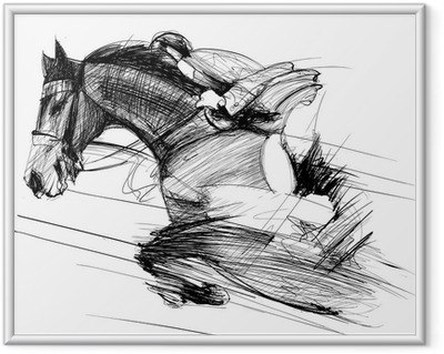 horse and jockey Framed Poster