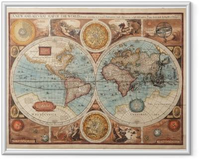 Póster com Moldura Old map (1626)