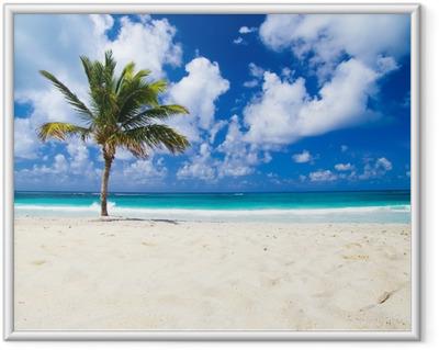 Plakat w ramie Tropikalna plaża