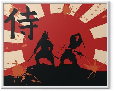 Gerahmtes Poster Japan Samurai