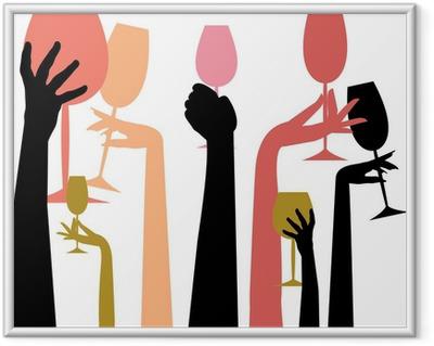 Ingelijste Poster Happy Hour kleuren