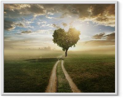 Plakat w ramie Kocham drzewa
