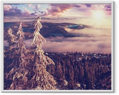 Gerahmtes Poster Winter in Norwegen