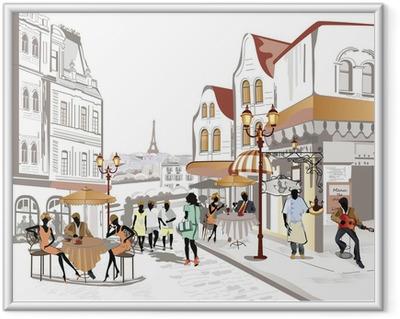 Poster en cadre Série de Street Views dans la vieille ville