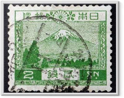 Plakat w ramie Japonia 1926 znaczek pocztowy widok mt. fuji