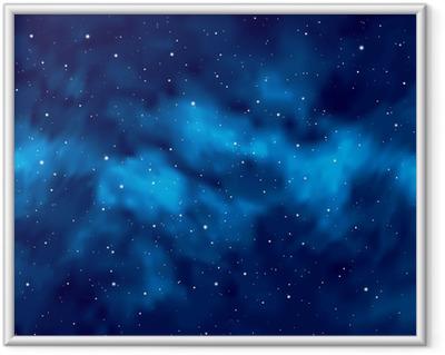 Ingelijste Poster Nachtelijke hemel met sterren