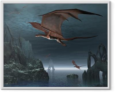Gerahmtes Poster Red Dragon Islands