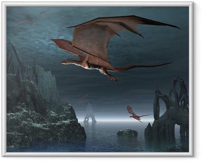 Ingelijste Poster Red Dragon Eilanden
