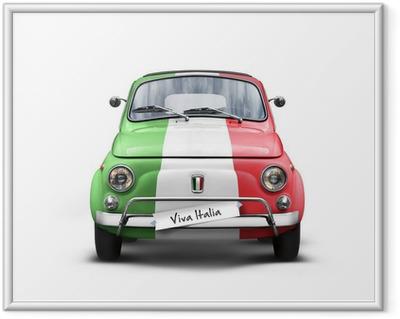 Plakat w ramie Włoski samochód na białym tle