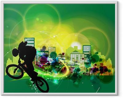 Innrammet plakat Bmx Cyclist