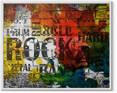 Gerahmtes Poster Grunge Rock Musik Poster