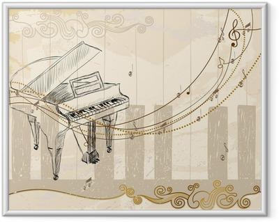 Musiikillinen tausta Kehystetty juliste