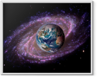 Earth Space Universe Galaxy Indrammet plakat