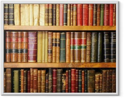 Póster Enmarcado Libros antiguos, librería, biblioteca