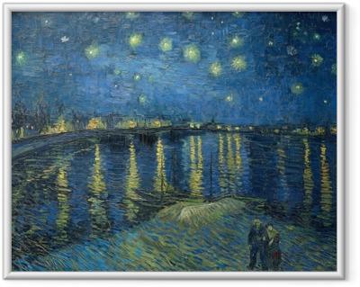 Çerçeveli Poster Vincent van Gogh - Rhone Üzeri Yıldızlı Gece