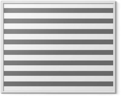 Innrammet plakat Hvit og grå stripet