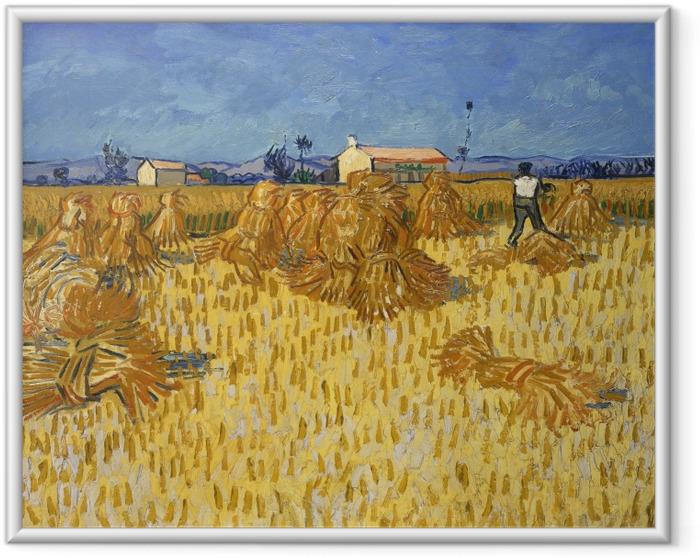 Poster en cadre Vincent van Gogh - Récolte en Provence - Reproductions