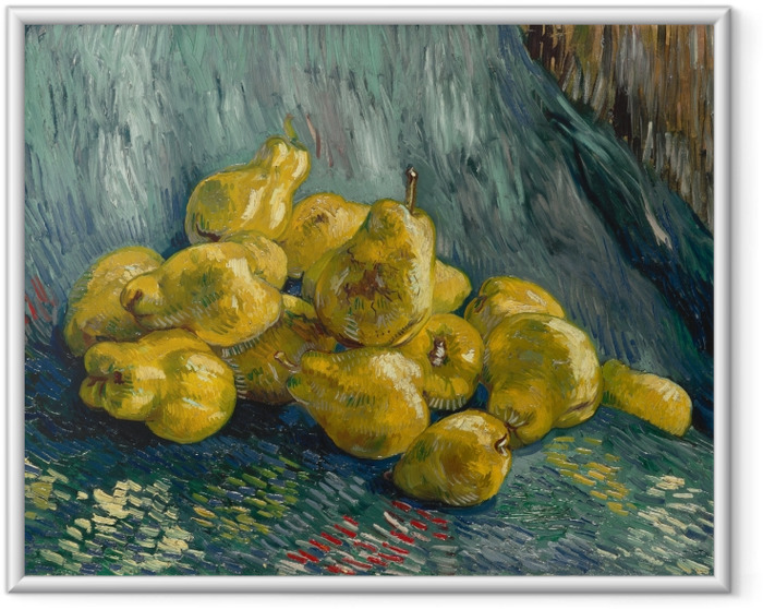 Poster i Ram Vincent van Gogh - Stilleben med kvitten - Reproductions