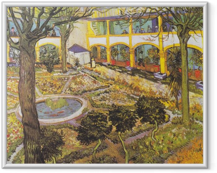 Poster en cadre Vincent van Gogh - Jardin de l'hôpital à Arles - Reproductions