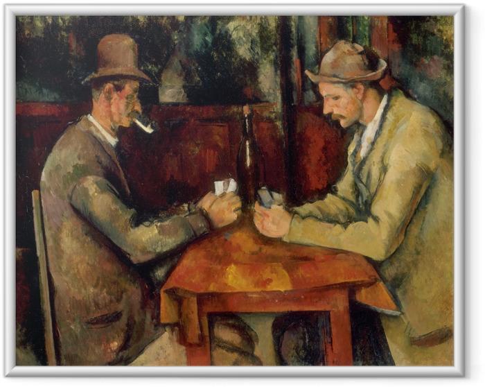 Plakat w ramie Paul Cézanne - Gracze - Reprodukcje