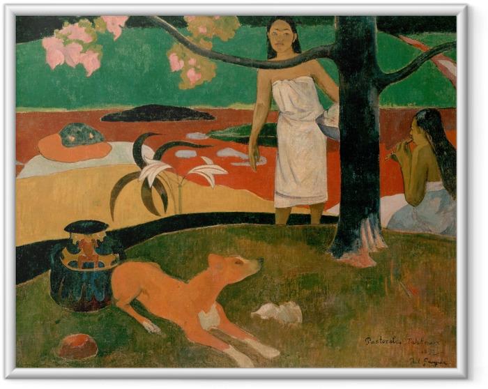 Ingelijste Poster Paul Gauguin - Pastorales tahitiennes - Reproducties