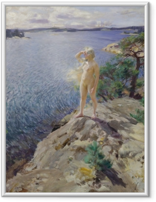 Ingelijste Poster Anders Zorn - Na skalném útesu