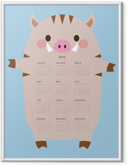 Gerahmtes Poster Kalender 2019 - lustig Eber -