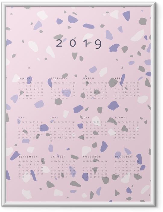 Poster en cadre Calendrier 2019 - lastryko -