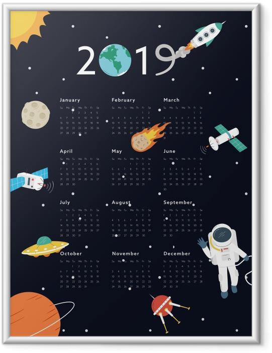 Ingelijste Poster Kalender 2019 – Universum -